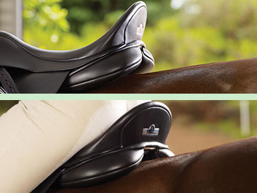 Sit in the saddle to check a CAIR® saddle's bearing